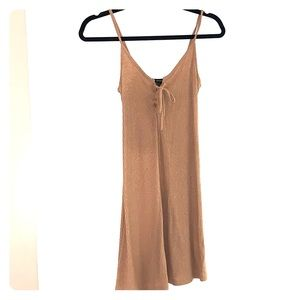 Beige forever 21 cotton dress
